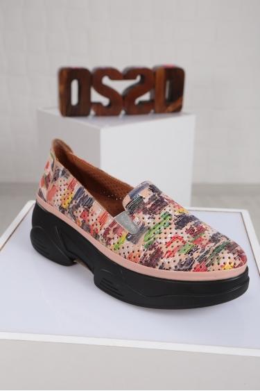 Hakiki Deri Pudra_Multi Kadın Comfort Ayakkabı 221100101
