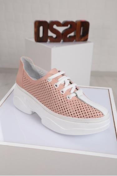 Hakiki Deri Pudra Kadın Comfort Ayakkabı 221100102