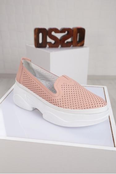 Hakiki Deri Pudra Kadın Comfort Ayakkabı 221100103