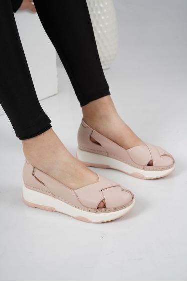 Hakiki Deri Sarı_multi Kadın Comfort Ayakkabı 221100103