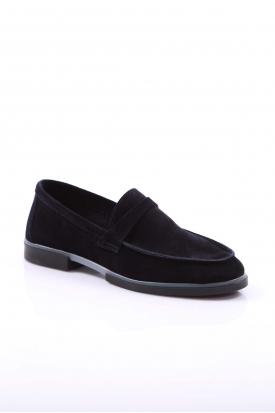 Hakiki Deri Laci Süet Kadın Loafer Ayakkabı 108-2668
