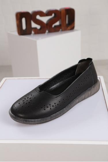 Hakiki Deri Siyah Kadın Sneaker Ayakkabı 221108105