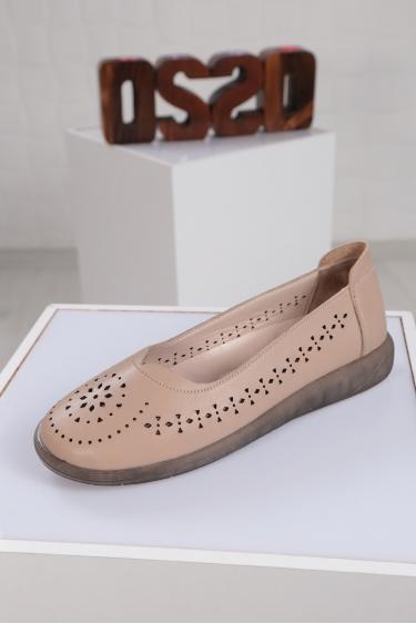 Hakiki Deri Bej Kadın Sneaker Ayakkabı 221108105