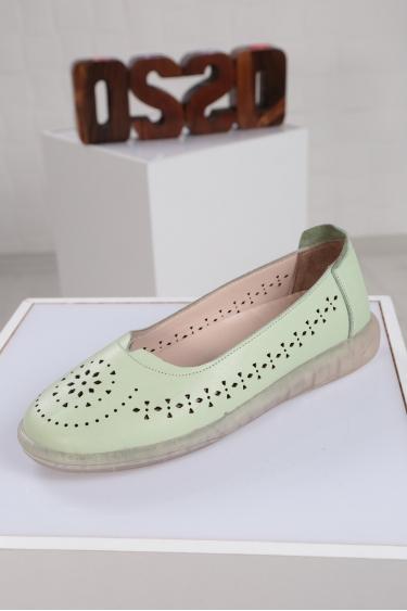 Hakiki Deri Su Yeşili Kadın Sneaker Ayakkabı 221108105