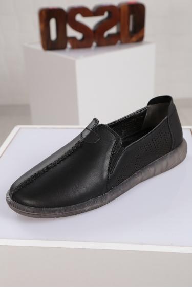 Hakiki Deri Siyah Kadın Sneaker Ayakkabı 221108106