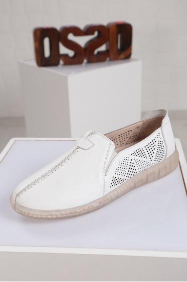 Hakiki Deri Beyaz Kadın Sneaker Ayakkabı 221108106