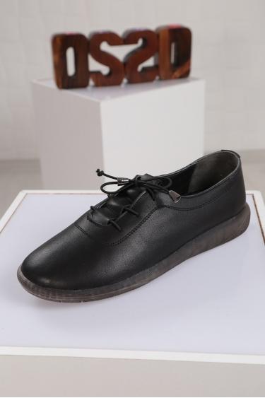 Hakiki Deri Siyah Kadın Sneaker Ayakkabı 221108107