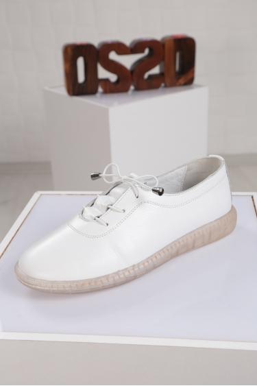 Hakiki Deri Beyaz Kadın Sneaker Ayakkabı 221108107