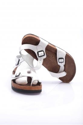 Hakiki Deri Beyaz Kadın Spor Sandalet 202124606