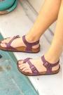 Hakiki Deri Crazy Mor Kadın Spor Sandalet 202124606