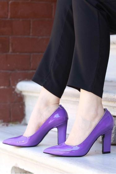 Mor Rugan Kadın Stiletto Ayakkabı 202127102