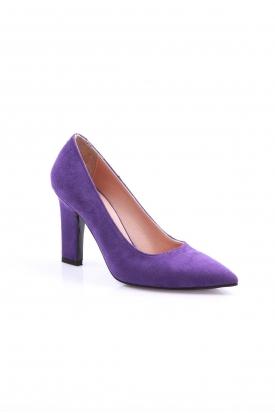 Mor Süet Kadın Stiletto Ayakkabı 202127102