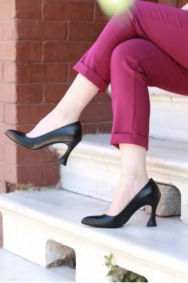 Siyah Kadın Stiletto Ayakkabı 202127103