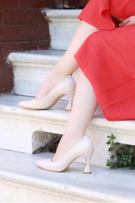 Bej Kadın Stiletto Ayakkabı 202127103