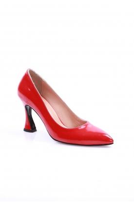 Kırmızı Rugan Kadın Stiletto Ayakkabı 202127103