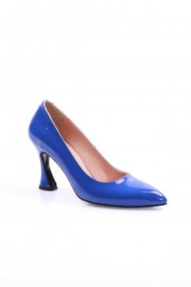 Koyu Mavi Rugan Kadın Stiletto Ayakkabı 202127103