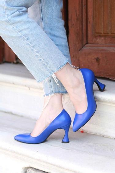 Koyu Mavi Kadın Stiletto Ayakkabı 202127103