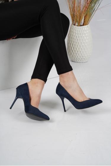 Laci Süet Kadın Stiletto Ayakkabı 202127105