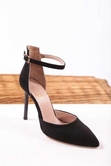 Siyah Süet Kadın Stiletto Ayakkabı 202127112