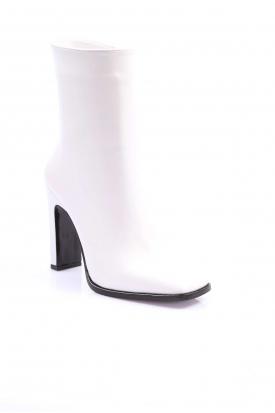Beyaz Kadın Yüksek Topuklu Bot 202127201