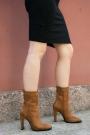 Taba Süet Kadın Yüksek Topuklu Bot 202127201