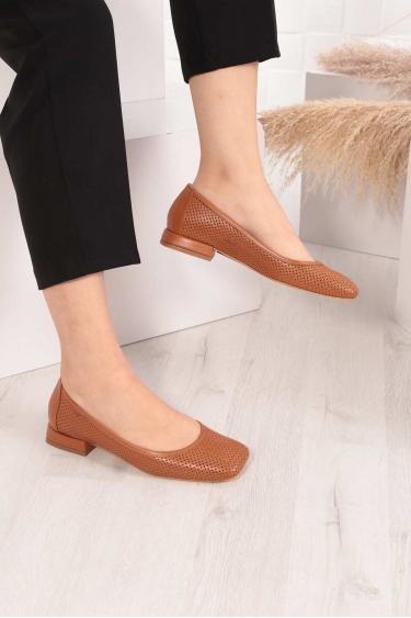 Hakiki Deri Taba Kadın Babet Ayakkabı 211127116