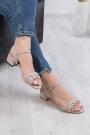 Hakiki Deri Bej Kadın Düz Sandalet 211127523
