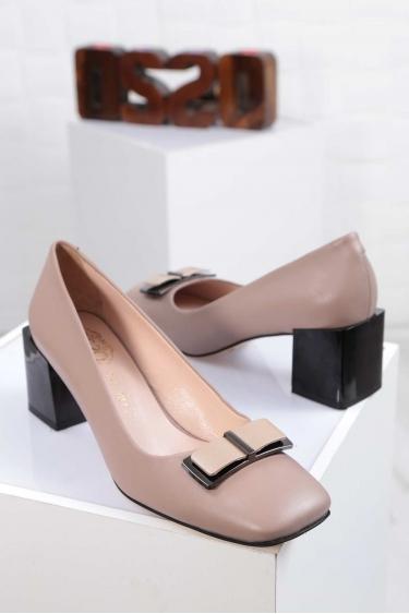 Hakiki Deri Vizon Kadın Topuklu Ayakkabı 212127101