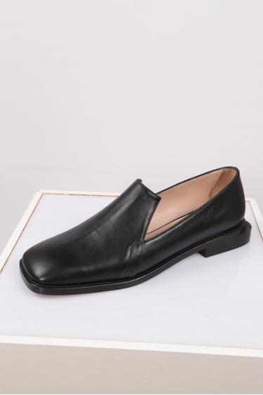 Hakiki Deri Siyah Kadın Babet Ayakkabı 212127106