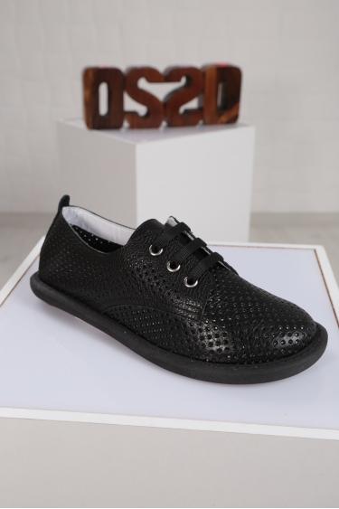 Hakiki Deri Siyah Floter Kadın Sneaker Ayakkabı 221135103