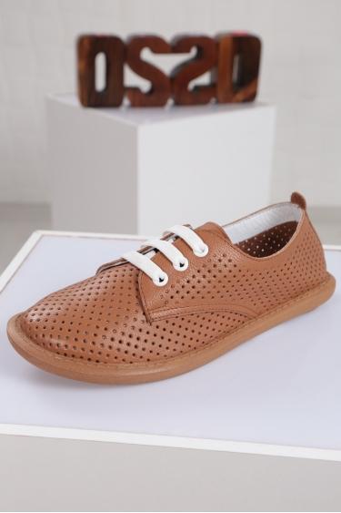 Hakiki Deri Taba Floter Kadın Sneaker Ayakkabı 221135103