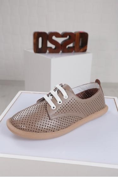 Hakiki Deri Vizon Floter Kadın Sneaker Ayakkabı 221135103