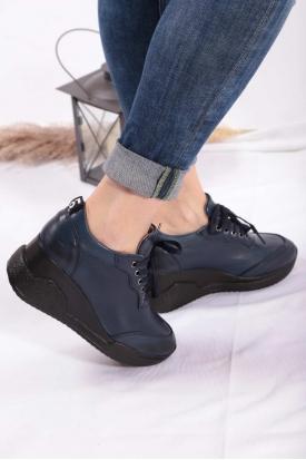 Hakiki Deri Laci Kadın Sneaker Ayakkabı 202186105