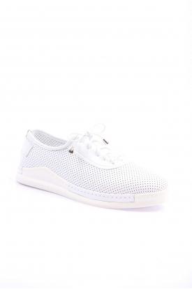 Hakiki Deri Beyaz Kadın Comfort Ayakkabı 199-914