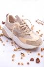 Bej Kadın Sneaker Ayakkabı 202201103