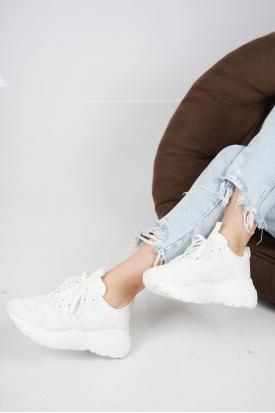 Beyaz Kadın Sneaker Ayakkabı 202201104