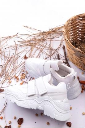 Beyaz Kadın Sneaker Ayakkabı 202201108