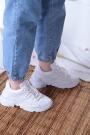 Beyaz Kadın Sneaker Ayakkabı 202201110
