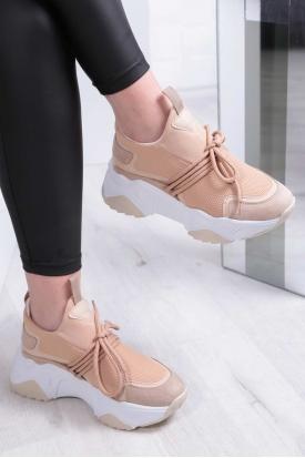 Bej Kadın Sneaker Ayakkabı 202201117