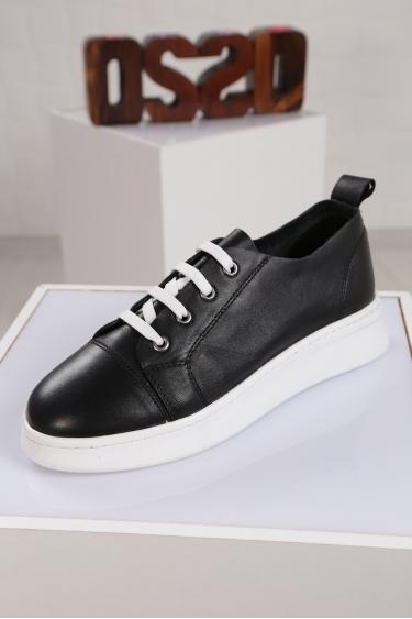 Hakiki Deri Beyaz Kadın Sneaker Ayakkabı 221204101