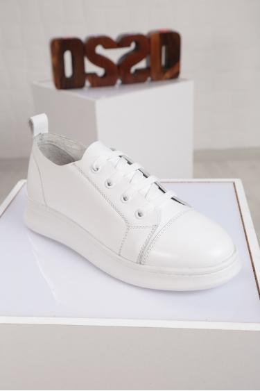 Hakiki Deri Siyah Kadın Sneaker Ayakkabı 221204101