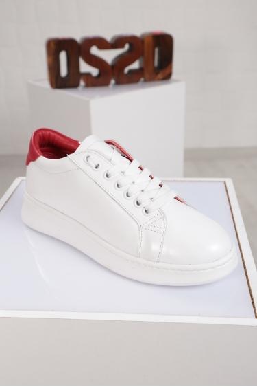 Hakiki Deri Beyaz Kadın Sneaker Ayakkabı 221204102