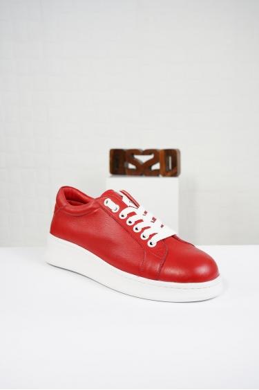 Hakiki Deri Siyah Kadın Sneaker Ayakkabı 221204102