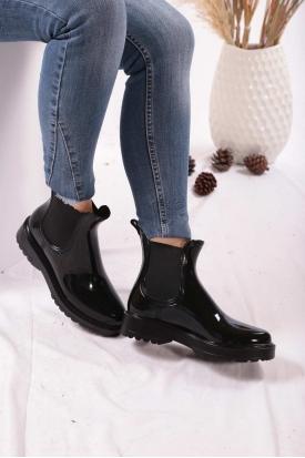 Siyah Kadın Yağmur Bot 202207204