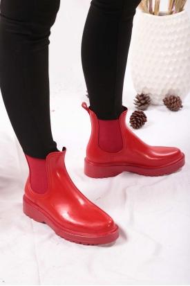 Kırmızı Kadın Yağmur Bot 202207204