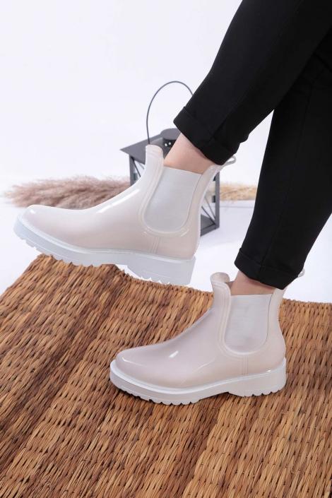 Beyaz Kadın Yağmur Bot 202207204