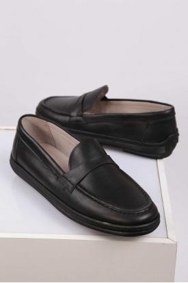 Hakiki Deri Siyah Kadın Casual Ayakkabı 212209104