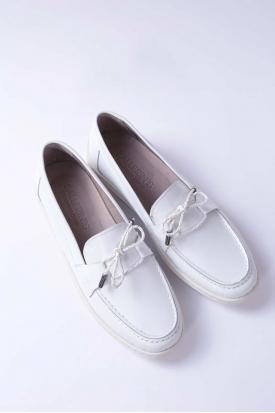 Hakiki Deri Beyaz Kadın Casual Ayakkabı 212209109