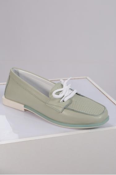 Hakiki Deri Mint Kadın Loafer Ayakkabı 221209103