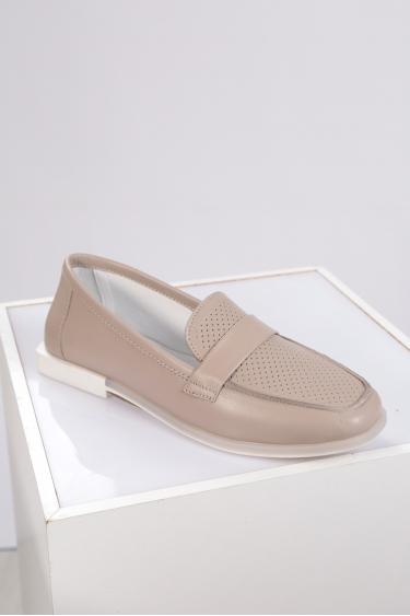 Hakiki Deri Kum Kadın Loafer Ayakkabı 221209104